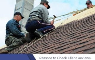 Check Roofing Client Reviews