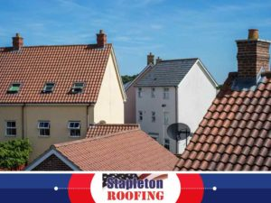 Stapleton Roofing Repair Company Clay Tiles Satellite Dish