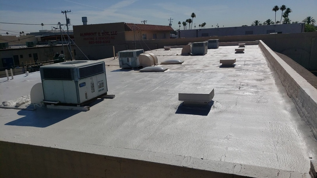 Flat Roof with AC units