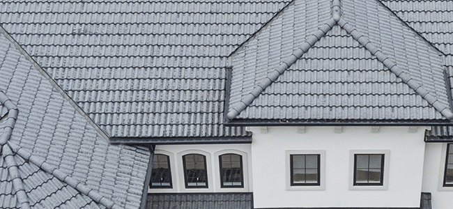 composition tile roof